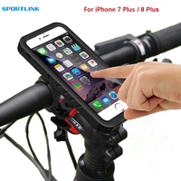 designer fashion d8406 e02a2 Bicycle Mount for iPhone 7 Plus/8 Plus Waterproof Case,Bike Motorcycle Rack  Handlebar & Motorcycle Holder Cradle with 360 Rotate