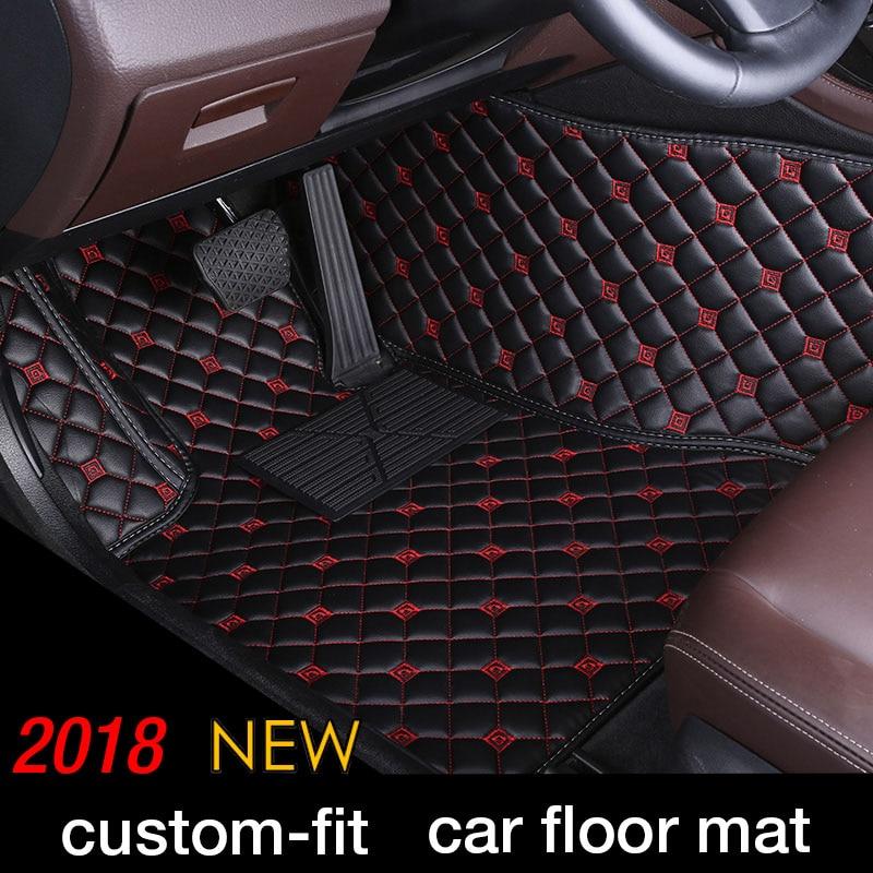 Custom Car Piano Zerbino Per Cadillac Escalade Siviglia SLS ATS ATSL CT6 CTS SLS SRX XT5 sedan Car Styling Pavimento zerbino tappeti