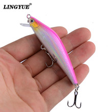 LINGYUE 1PCS 7cm 7.5g Artificial Floating Minnow Lure Tight Shot Fishing Lures Hard Bait Tackle 3D Fish Eyes Hot Sale