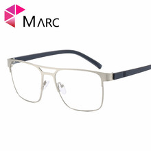 MARC Men 2019 Vintage TR90 Frame Eyeglass Metal Fashion Clear lens Trend Wrap Glasses Male Classic Square Gold Silver G7009 1