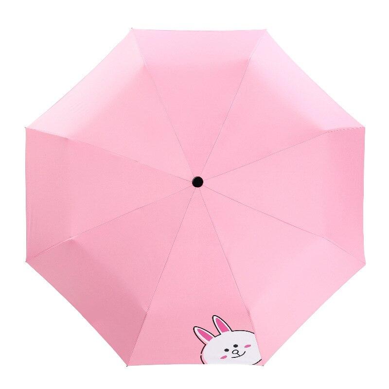 Womens umbrella rain gear Cartoon Sunny and Rainy Umbrella for kids Parasol Sun/Rain Folding Umbrella paraguas mujer Students