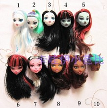 50pcs lot Free Shipping Mixed Styles Doll Heads For Monster Dolls 1 6 Doll Accessories Demon
