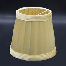 Vintage Fabric Pleated Lampshade Table Desk Bed Lamp Cover Holder Chandelier Dropshipping Apr25(China)