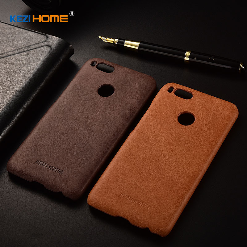 for Xiaomi Mi A1 MiA1 case KEZiHOME Frosted Genuine Leather Hard Back Cover For Xiaomi Mi A1 Global Version 4GB 5.5'' cases