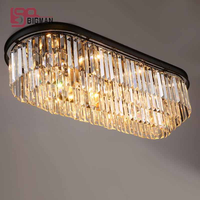 new design oval crystal chandeliers ceiling fixtures lustre dinning room living room chandelier LED light new design rgb led crystal light modern dinning room crystal chandelier with remote control
