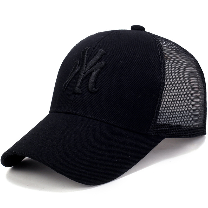 Spring Summer Unisex   Baseball     Caps   Letter Mesh   Cap   Fashion Solid Embroidery Adjustable Hat Women Men Cotton Casual Hats CP0113
