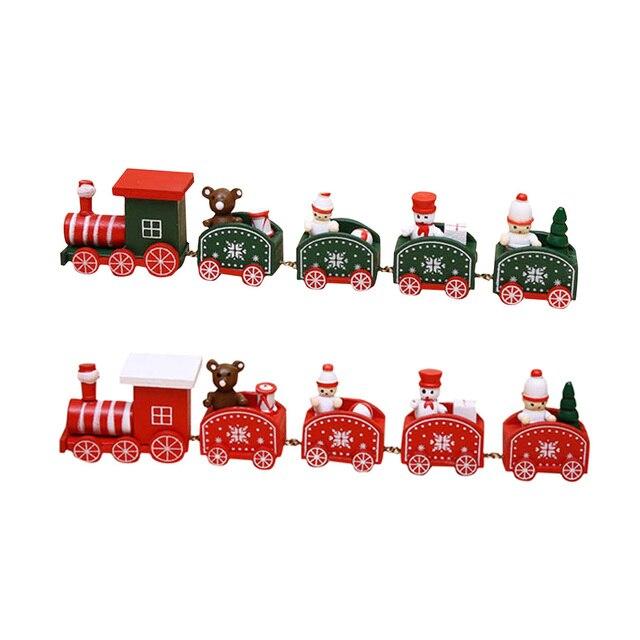 Mini modelo de tren de madera costura Juguetes Navidad navidad niños ...