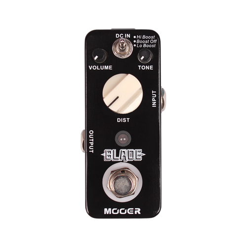 Mooer Blade Heavy Metals Distortion Guitar Effect Pedal With Lo Boost/Boost Off/Hi Boost 3 Working Modes True Bypass mooer blade boost guitar effect pedal electric guitar effects true bypass with free connector and footswitch topper