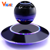 Vwar Portable Wireless Floating Orb Bluetooth Wireless Stereo Rotating 360 Degree Speakers Magnetic Levitation Stereo Sound