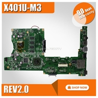 X401u placa-mãe X401U-M3 rev2.0 2 gb ram para asus x401u x501u computador portátil placa-mãe x401u mainboard x401u teste 100% ok