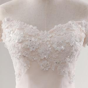 Image 4 - Fansmile 2020 رداء دي ماريج الأميرة الأبيض الكرة فساتين الزفاف Vestido De Noiva حجم كبير مخصص فساتين الزفاف FSM 564F