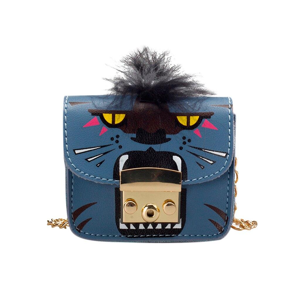 Crossbody-taschen Muqgew Frauen Leder Handtaschen Blau Kinder Grils Nette Print Handtasche Schulter Tasche Mini Messenger Bag #0329 Fein Verarbeitet