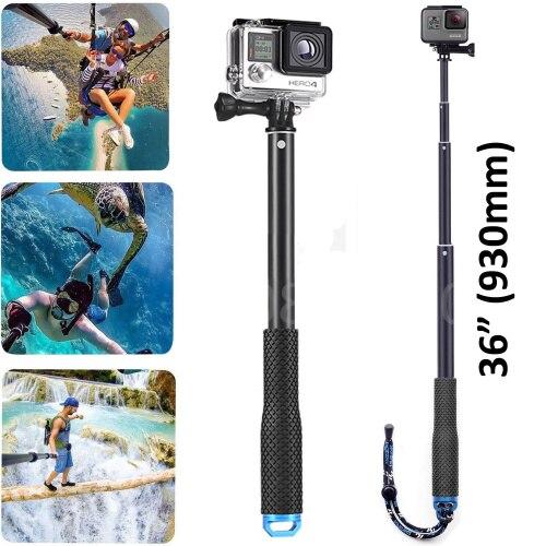 Para 36 polegada gopro acessórios selfie varas auto handheld pólo monopod vara para gopro hero 7 6 5 4 3 + sjcam sj6 sj7 sj8