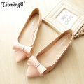 2016 casual bow Pointed flat shoes women slip on shoes woman ballet flats