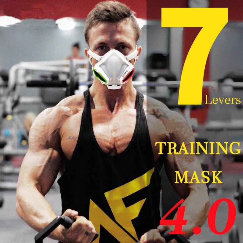 Treinamento Esportivo AGEKUSL Máscara 4.0 Workout Fitness Gym Exercício de Corrida Da Bicicleta Da Bicicleta Ciclismo Máscara Facial Máscara Máscara de Elevação de Cardio
