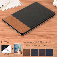 Business Case For Samsung galaxy tab a 2019 10.1 T510 T515 PU Leather Tablet cover for samsung Tab A 10.1 2019 Stand Case Capa недорого