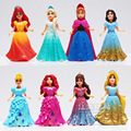 Disney Frozen Kid Toys Top Fashion Desigual Brand Kids Toys Princess Elsa Anna Action Figures Juguetes Anime 8Pcs/lot Detachable