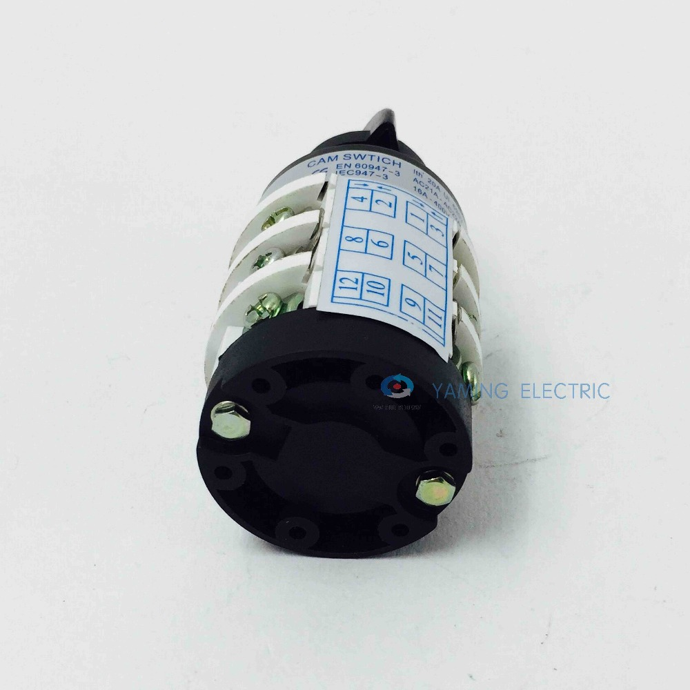 hz5b 20/3 motor reversing switch on/off/on 20a 3 pole use for tire changer  machine rotary combination changeover cam switch-in switches from lights
