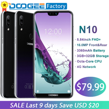 DOOGEE Octa N10-Core 32 3 GB de RAM GB ROM mobile Phone 5.84 polegada FHD + 19:9 Smartphones 16MP camera 3360 mAh Android 8.1 4G LTE celular(China)