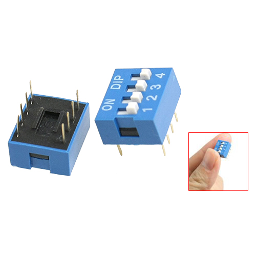 DHDL-10 Pcs 2 Row 8 Pin 4P Positions 2.54mm Pitch DIP Switch Blue