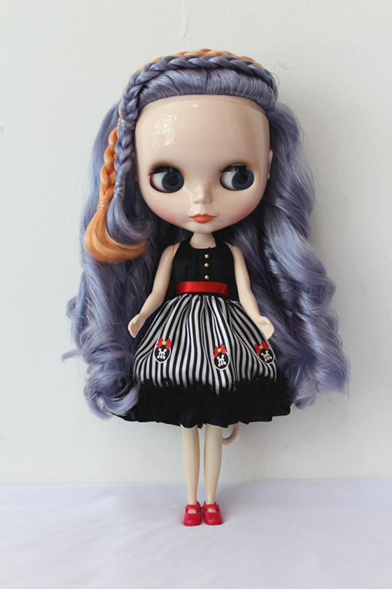 Blygirl Blyth doll Purple wave curls 30cm ordinary body with 7 joints of ordinary color of the skin e27 e26 socket loft droplight retro pendant lights loft industrial style lamp 110 220v classicality pendant lighting wpl058