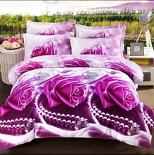 2015 Hot Fashion 3D bedding sets bed set linen include duvet cover sheet pillowcase reactive printing Twin Full Queen King size