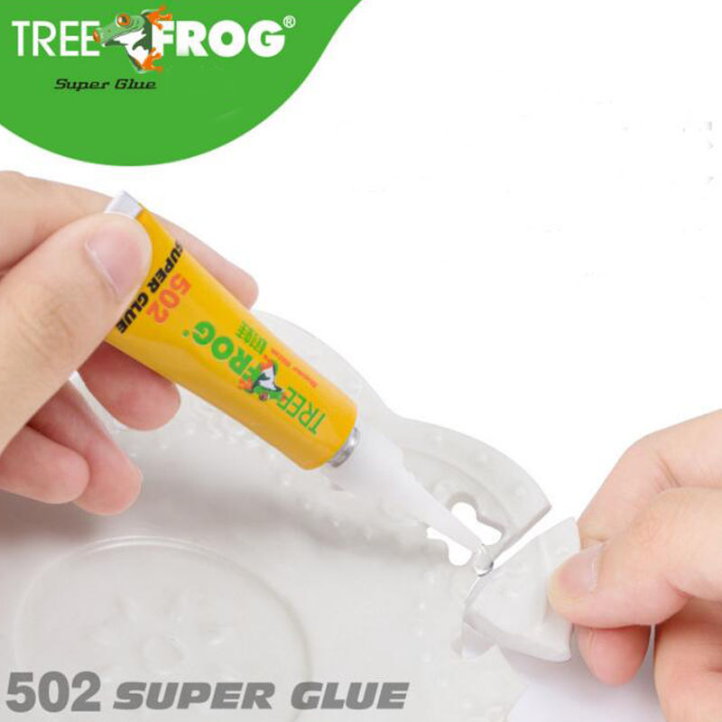 Tree Frog 502 Instant Super Glue Instant Quick-drying Cyanoacrylate Adhesive Strong Bond Fast For Leather Rubber Metal 3g