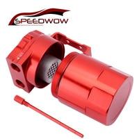 Speedwow 300ml alumínio perplexo tanque de captura de óleo do carro pode reservatório universal latas de tanque de captura de óleo