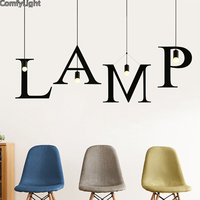 Industrial Led Pendant Light Droplight Loft Creative Particular Wrought Iron Lamp E27 Lights Black Metal Modern