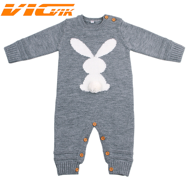 7d059c685 Newborn Boys Girls One Piece Jumpsuits Handmade Knitted Long Sleeve Infant  Crochet Overalls Thermal Christmas Baby Winter Romper