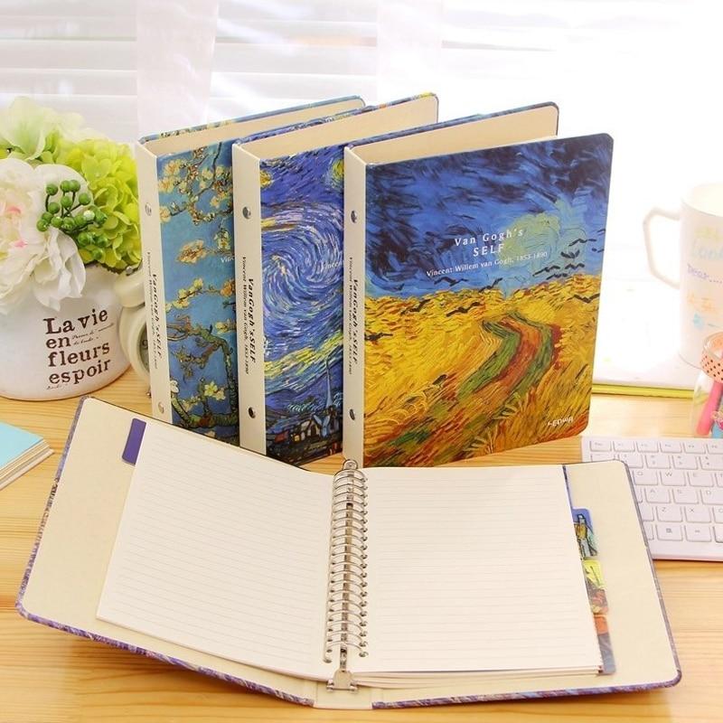 A5 Classic Spira Notebook Vintage Van Gogh Plum Blossom Rye Night Sky Diary Diary Planner Kids Birthday Gift classic notebook vintage