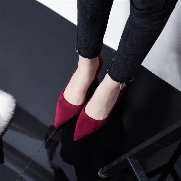 Ayakk.'ten Kadın Pompaları'de 2018 kaliteli düğün ayakkabı moda parti yüksek topuklu ayakkabı kırmızı renk'da  Grup 1