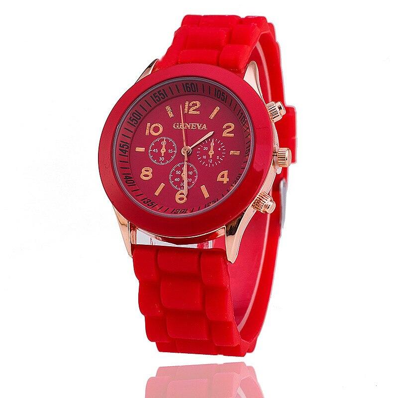 High Quality Beautiful Fashion Women Bracelet Silicone Watch Ladies Watch Casual Round Analog Quartz Wrist Bracelet Watch For Wo