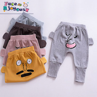 Baby Boys Girls Harem Pants 3D Cartoon Face Pattern Toddle Kids PP Pant Trousers 2017 Autumn