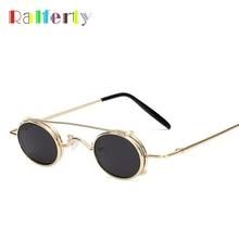 Ralferty Vintage Small Clip On Sunglasses Women Men Retro Mini Steampunk Goggles Punk Sun Glasses UV400 Eyewear Accessories B012