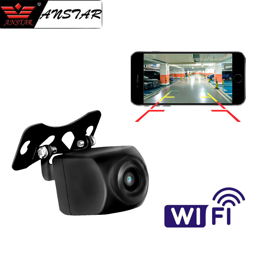 ANSTAR Mini WiFi Car Back Camera 1080P Waterproof Rear View Vehicle Camera 120 Wide Angle Night Vision Backup Parking Dash Cam