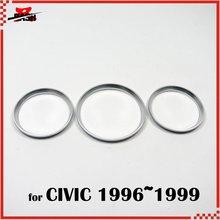 DASH для Civic 1996 1999 кластерный датчик приборной панели кольцо серебряный цвет