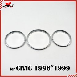 DASH frees hipping for Civic 1996 1999 cluster Gauge dashboard Ring silver color