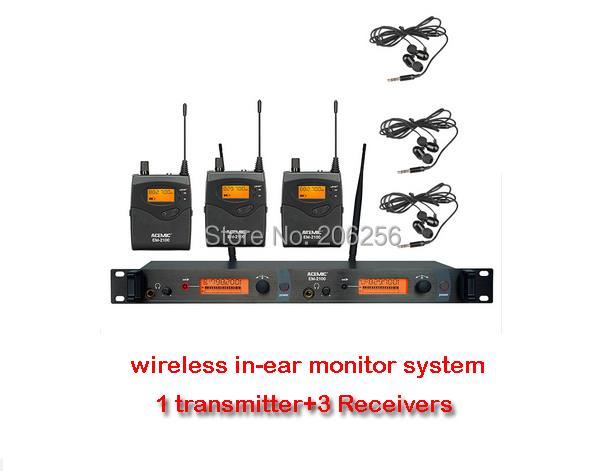 acemic em 2100 uhf frequency dual channel wireless in ear monitor system use for stage monitor. Black Bedroom Furniture Sets. Home Design Ideas