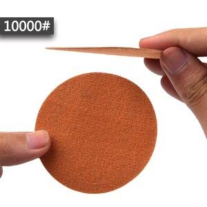 Image 4 - POLIWELL 30PCS 3 Inch Grit 60/240/3000/5000/10000 75mm Schleifen Discs Silizium hartmetall Runde Beflockung Schleifpapier Auto Polieren Werkzeug