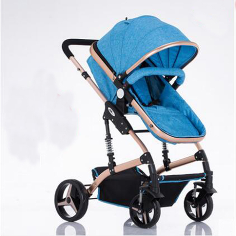 Baby stroller high landscape can sit and lie and folding child baby cart baby stroller Exempt postage baby stroller high landscape can sit and lie trolley high quality folding baby cart children s pram