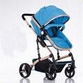Carrinho de bebê de alta paisagem pode se sentar e deitar e postagem Isento bebê carrinho de criança dobrável carrinho de bebê