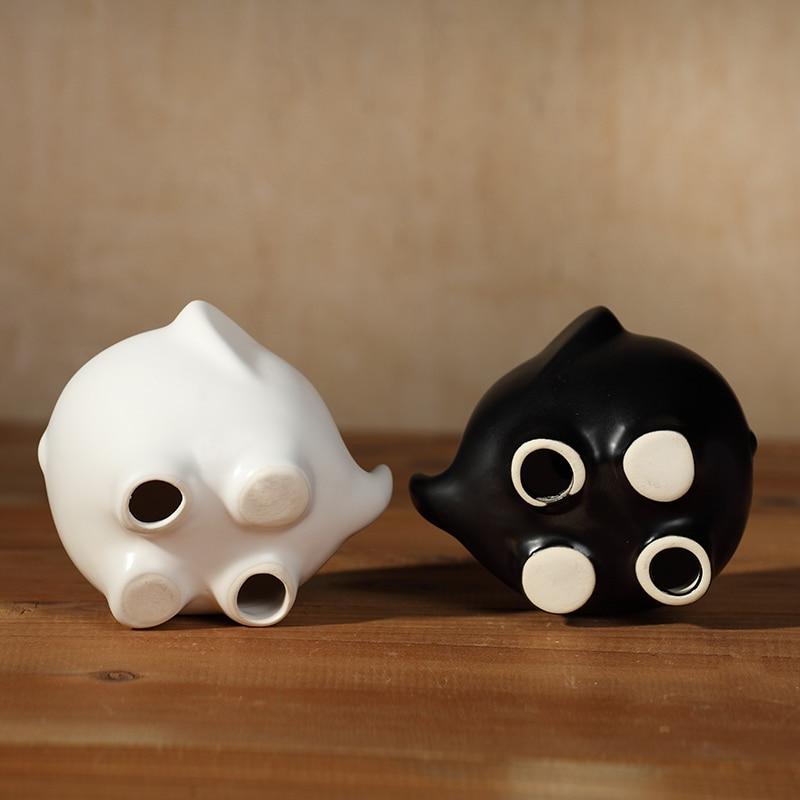 Kreative nette kleine schwarz weiß keramik elefanten dekoration ...