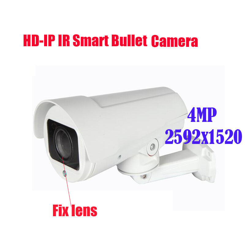 Free shipping New 4MP IR 30M 6mm fix lens IP Pan/Zoom Bullet Camera 2592x1520 4MP/ 4.0 Megapixel 6MM Lens 4/8/12mm optional free shipping 4 0mp 2 8 12mm motorized zoom