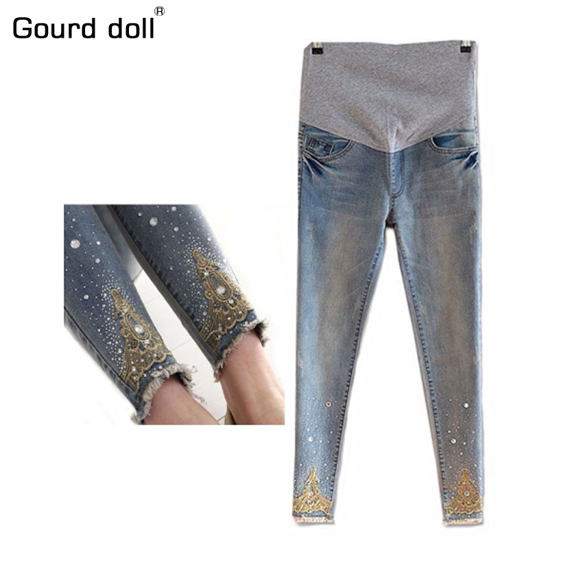Maternity pregnancy jeans Summer Winter Multi-style jeans Pants for pregnant women Elastic waist jeans pregnant pregnancy clothe trendy snow wash slimming elastic waist capri jeans for women