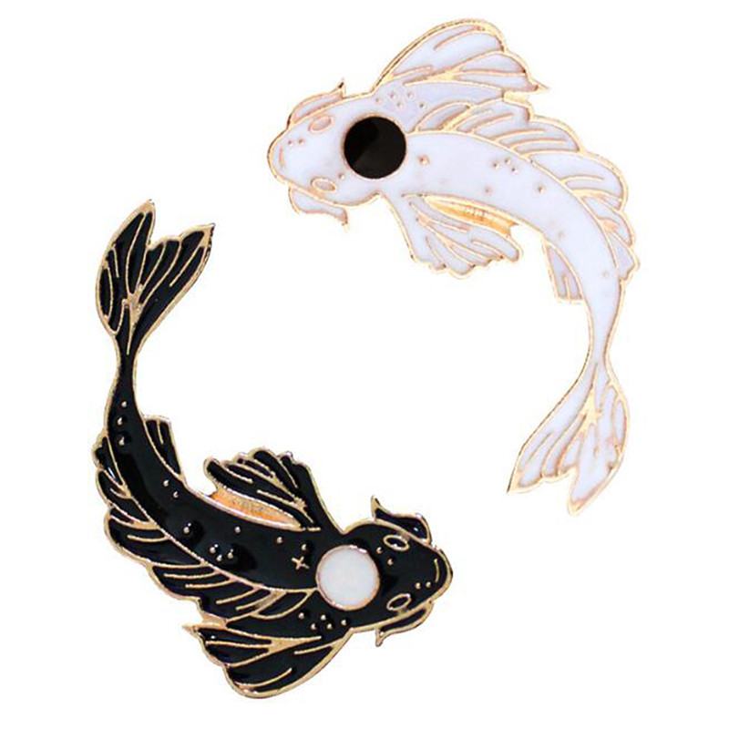 Arts,crafts & Sewing Cute Goldfish Carp Enamel Pin Denim Lapel Creative Koi Badge Fish Badge Family Kid Blessing Gifts Friends Personality Jewelry Apparel Sewing & Fabric