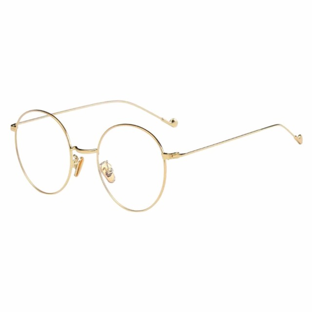 Metal Thin Round Frame Nearsighted Glasses Myopia Eyeglasses Short