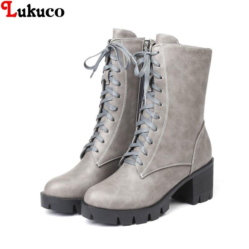 2019 Lukuco Winter Warm Plush Women Boots Oversize 38 39 40 41 42 43 44 45 46 High Quality Botas Custom Handmade PU Lady Shoes 2019 lukuco winter warm plush women boots oversize 38 39 40 41 42 43 44 45 46 high quality botas custom handmade pu lady shoes
