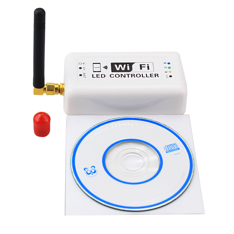 6 pcs/pack wifi LED variateur de contrôleur RGB DC 7.5-24 V pour 5050 3528 5630 bande de LED rvb Applicable à Android et IOS.