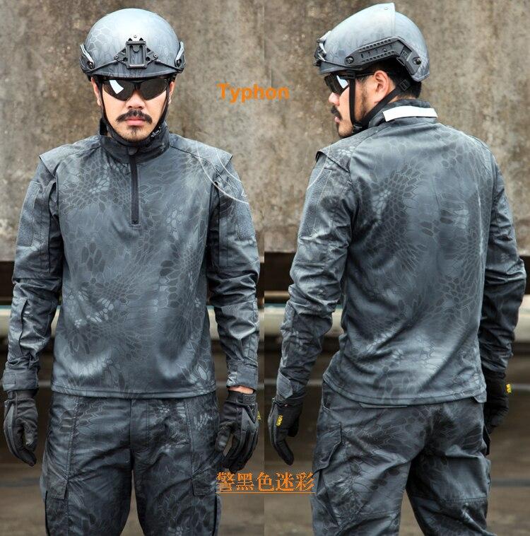 Novelty & Special Use Dependable Typhon Tactical Shirt 1/4 Zip Ripstop Long Sleeve Combat Shirt Typhon Police Combat Shirt